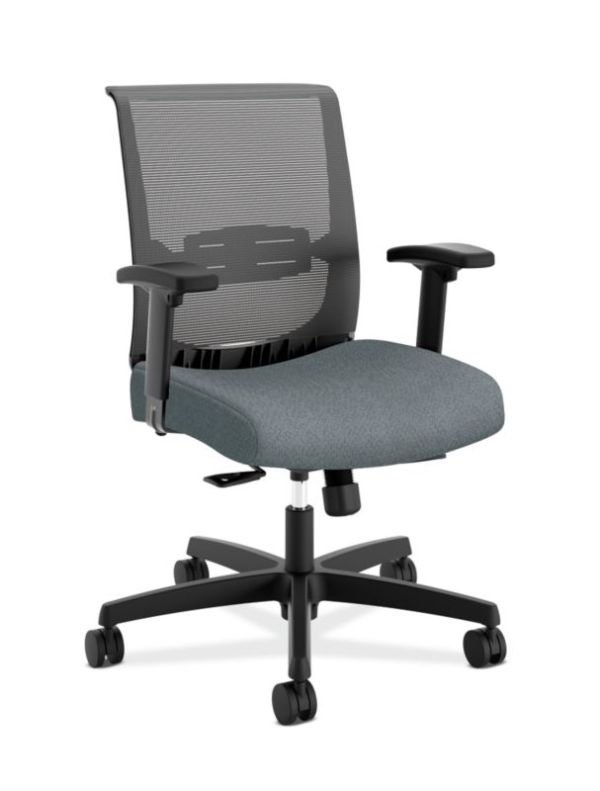 HON Convergence Task Chair | Synchro-Tilt With Seat Slide Control | Height- and Width-Adjustable Arms | Basalt Fabric