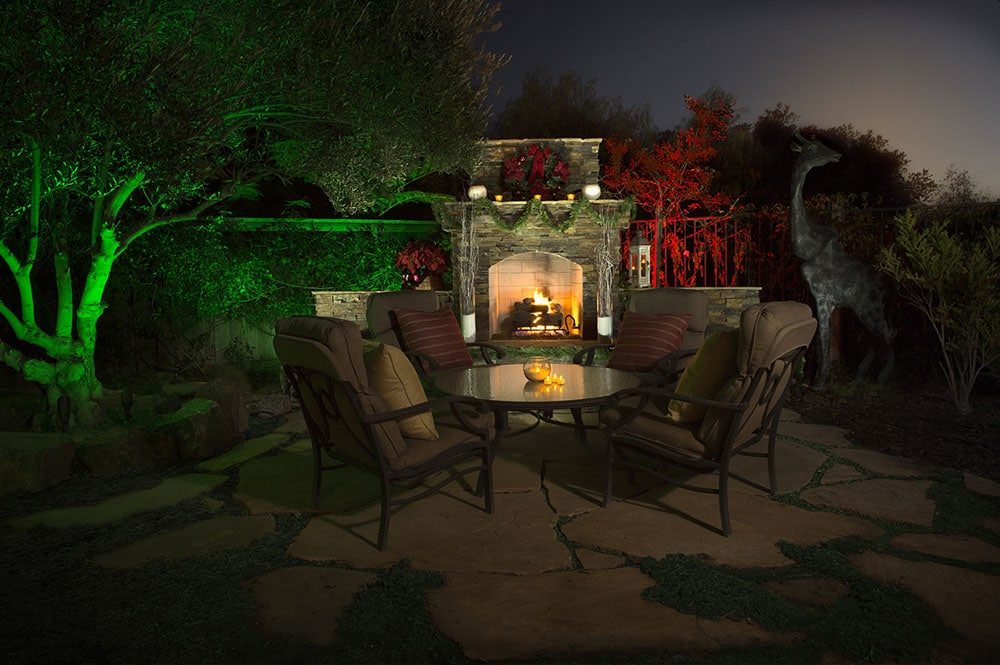 outdoor lighting in color make your