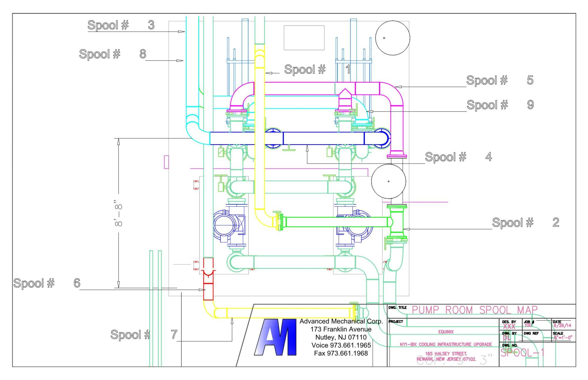 hight resolution of piping