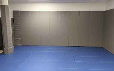 A PADDED TACTICAL TRAINING ROOM FOR MONTREAL-TRUDEAU INTERNATIONAL AIRPORT