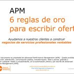 seis reglas de oro para escribir ofertas Advanced Performance Management