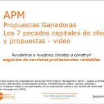 Los 7 pecados capitales de ofertas y propuestas Advanced Performance Management