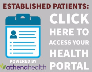 Patients can click here to access their online health portal, with EMR