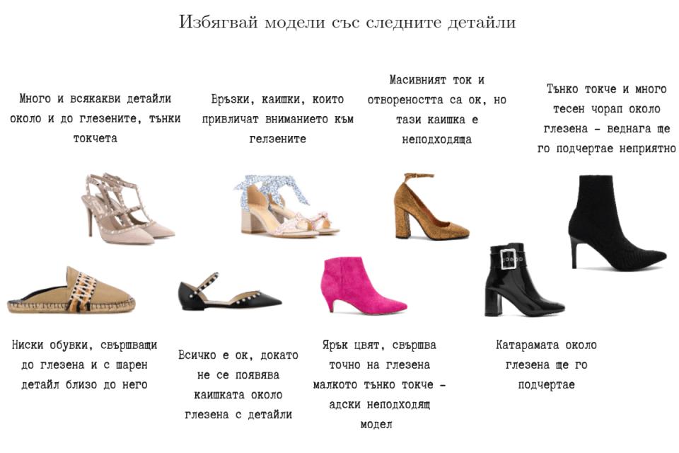 Дебели глезени обувки