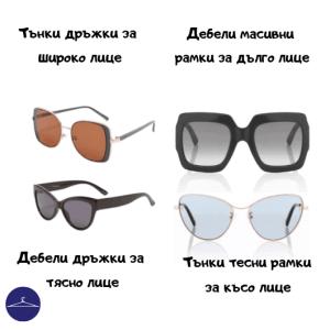 Рамки и дръжки на очила за тесно и широко лице