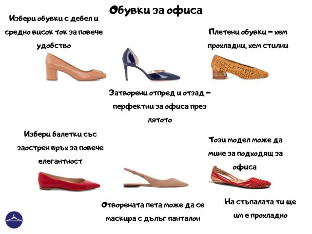 Обувки за офиса през лятото