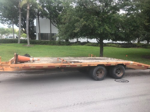 small resolution of hudson dual axle wheel 10 ton equipment deck over trailer