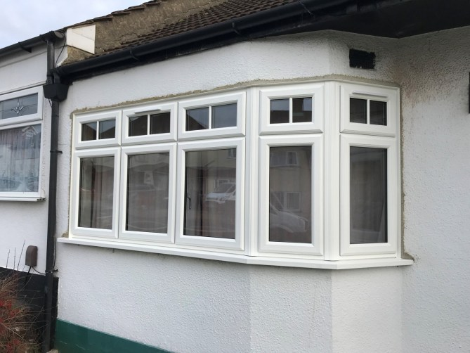 UPVC bay window with equal sight-lines