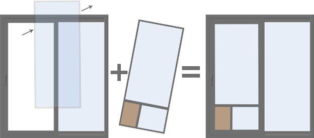 dog door for vinyl sliding glass door