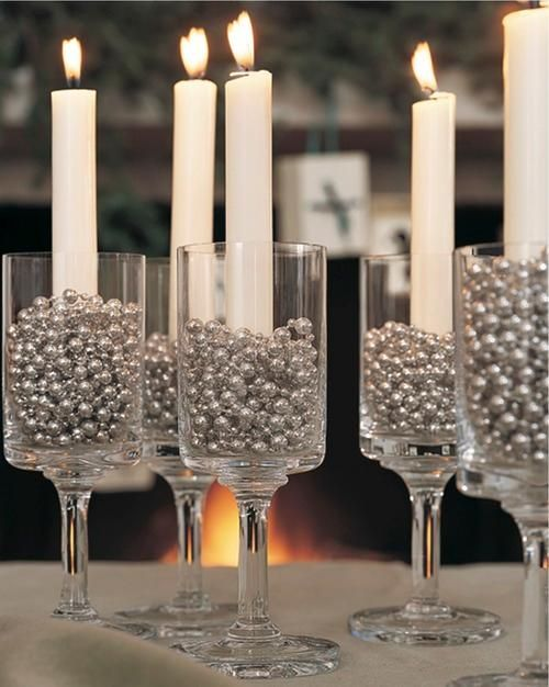 New Year's Eve Candle Centerpieces