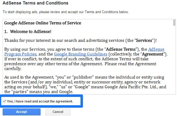 How To Apply For Google Adsense-5th step