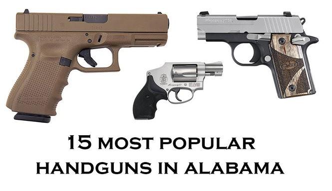 15 most popular handguns