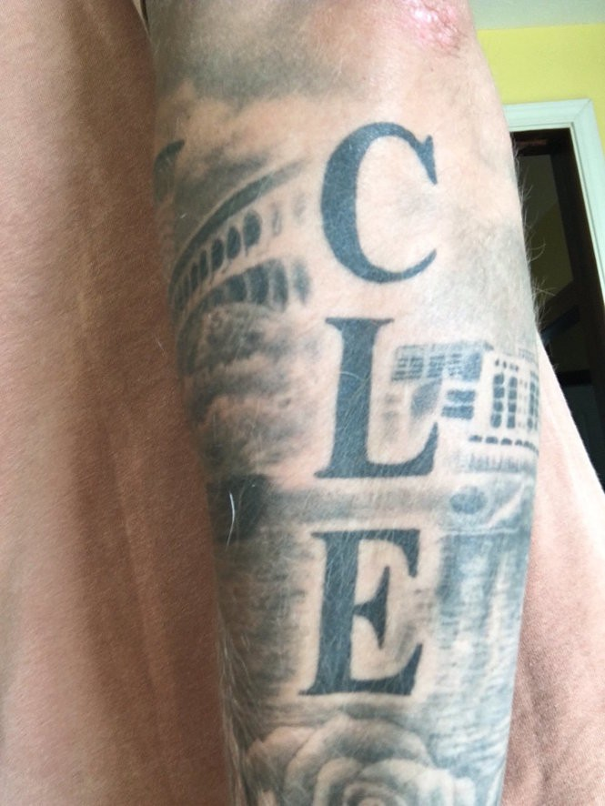 Cleveland Skyline Tattoo : cleveland, skyline, tattoo, Clevelanders, Their, Pride, Check, These, Tattoos, (poll), Cleveland.com