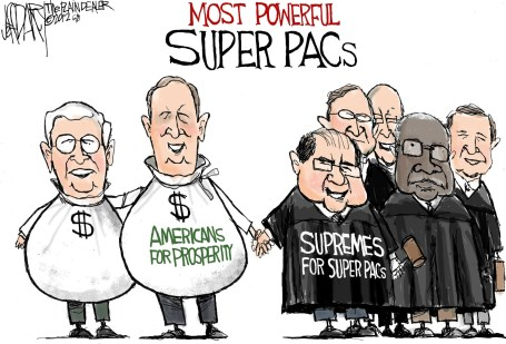 Two most powerful super PACs: Editorial cartoon - cleveland.com