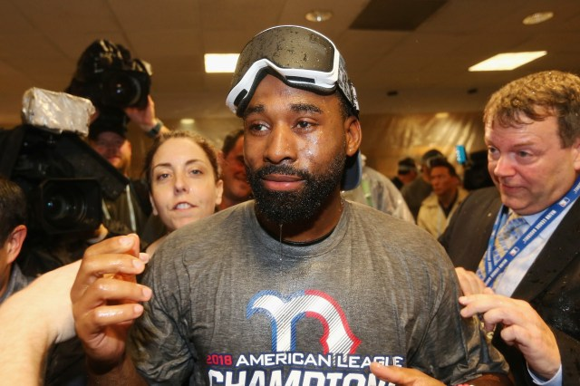 Jackie Bradley after the 2018 ALCS