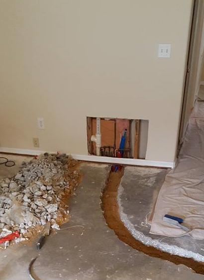 Advance Plumbing solutions detects leaks in concrete floors, leak detection leak repair