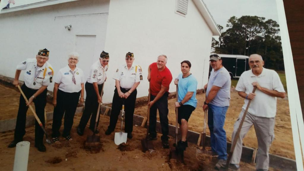 Advance Plumbing Groundbreaking for new bathroo American Legion