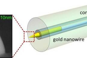 Hybrid-Mode-Assisted Long-Distance Excitation of Short-Range Surface Plasmons in a Nanotip-Enhanced Step-Index Fiber