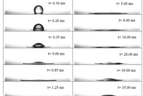 Identification of the impact regimes of a liquid droplet propelled by a gas stream impinging onto a dry surface at moderate to high Weber number