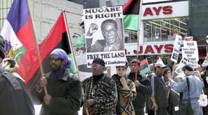 Harlem-demo-Zimbabwe