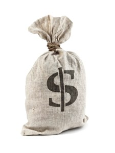 Money Bag with Dollar symbol, isolated on white