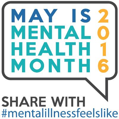 Mental Health Month 2016 logo.