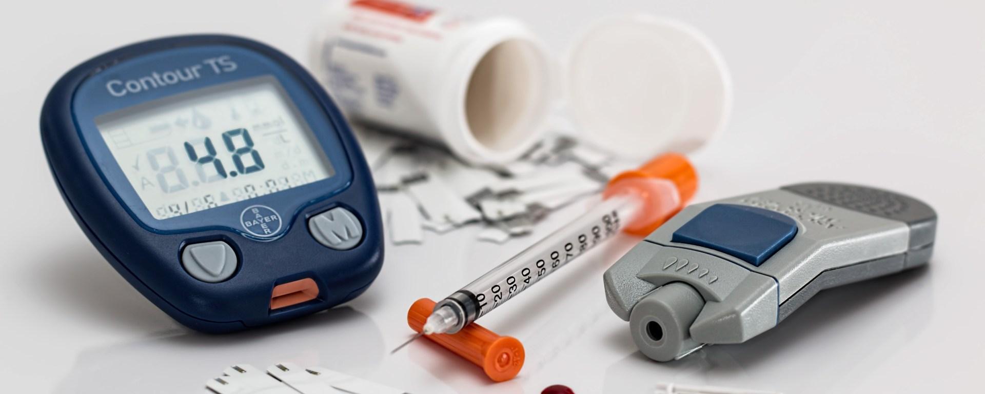 Diabetes medical supplies.