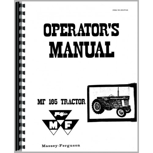 Free massey ferguson 165 user manual