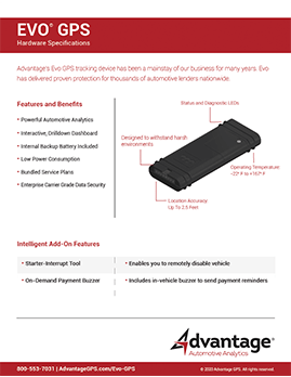 Evo GPS - Hardware Specifications - Advantage GPS