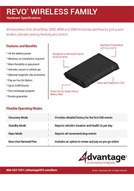 Revo Family of Hardware Specs - Advantage GPS