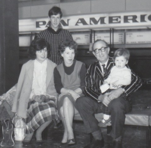 Pregnant with Ruby 1964 with stepson Michael and stepdaughter Nicola, John and Martin