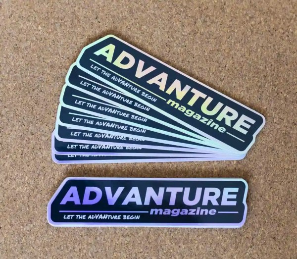 Advanture Magazine holographic stickers