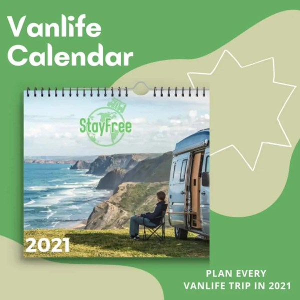 2021 vanlife calendar
