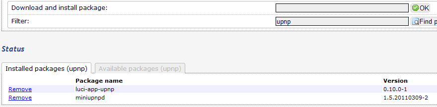 OpenWRT: UPnP