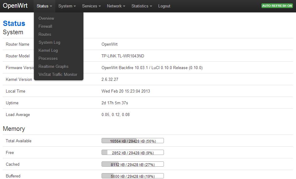 OpenWRT: Bootstrap Luci Theme – advanxer com