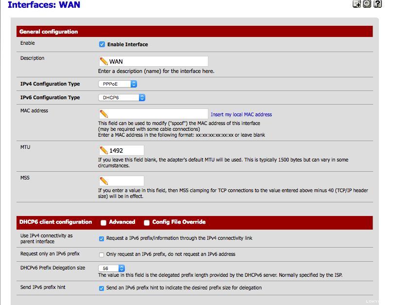 Configuring Unifi IPv6 on pfSense – advanxer com