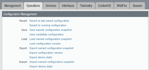 Palo Alto: How to migrate configuration to another unit