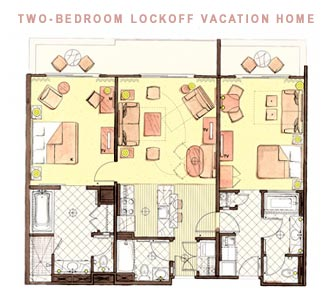 The Value 2 Bedroom Villas Are In Jambo House Only They Smaller 945 Sq Ft Than Standard 1173 As A Result I Believe Missing