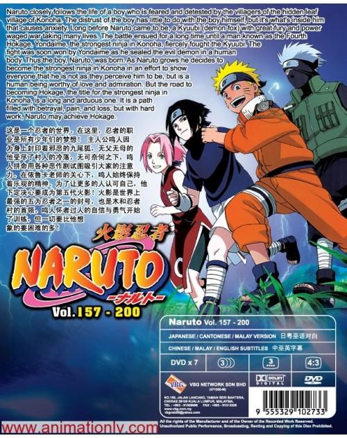 NARUTO (TV 157 - 200) BOX 4 DVD