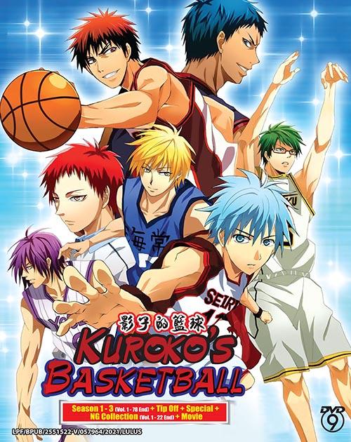 Kuroko's Basketball Season 1 - 3 ( Vol. 1-78 End) + Tip Off + Special + NG Collection (vol. 1-22 End) + Movie (6DVD9+2DVD5)