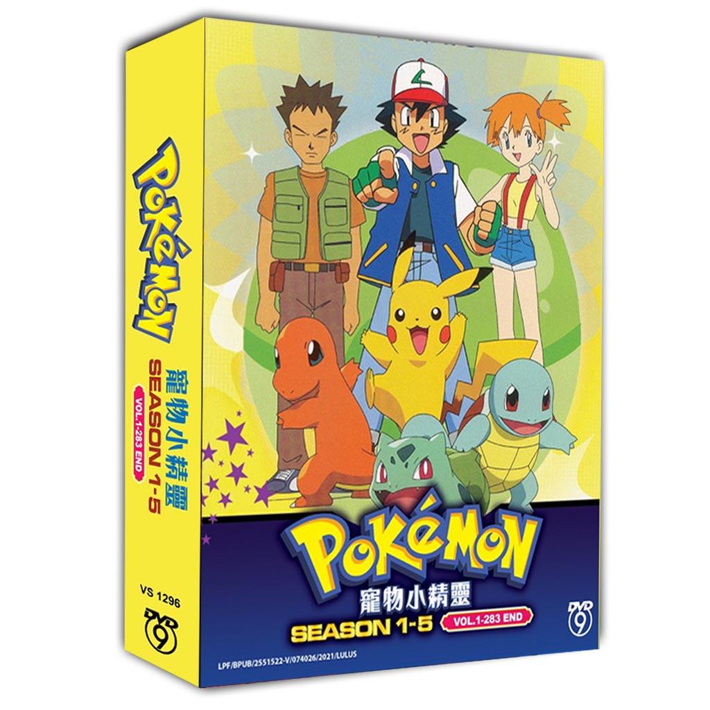 Pokemon Season 1-5 Vol.1-283 End dvd