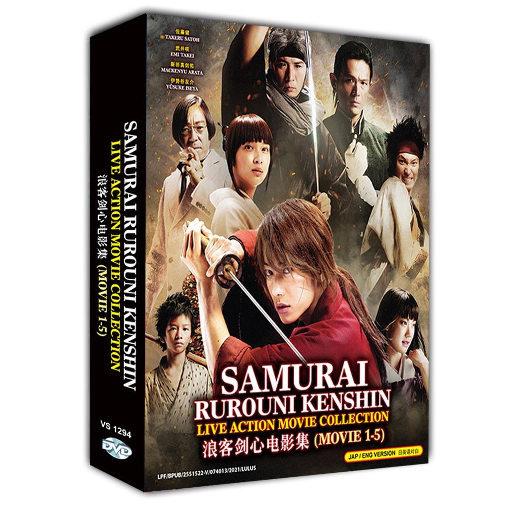 Samurai Rurouni Kenshin Live Action Movie Collection