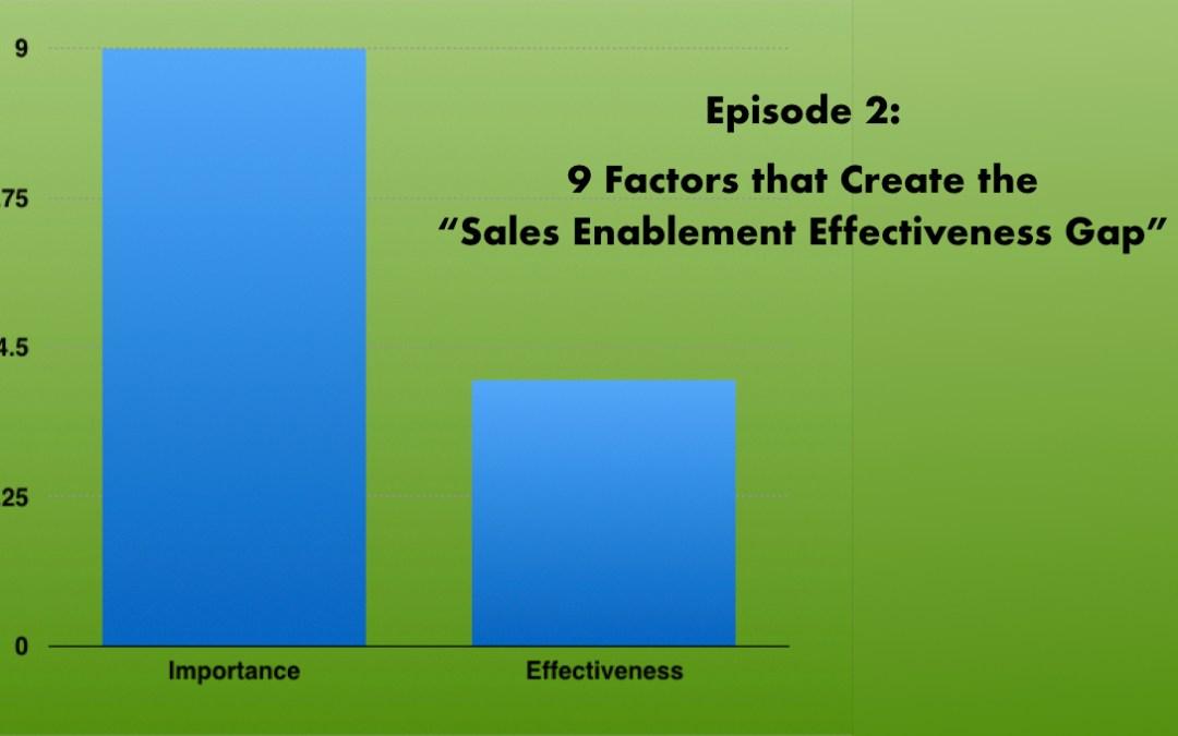Podcast – 9 Factors that Create the Sales Enablement Effectiveness Gap