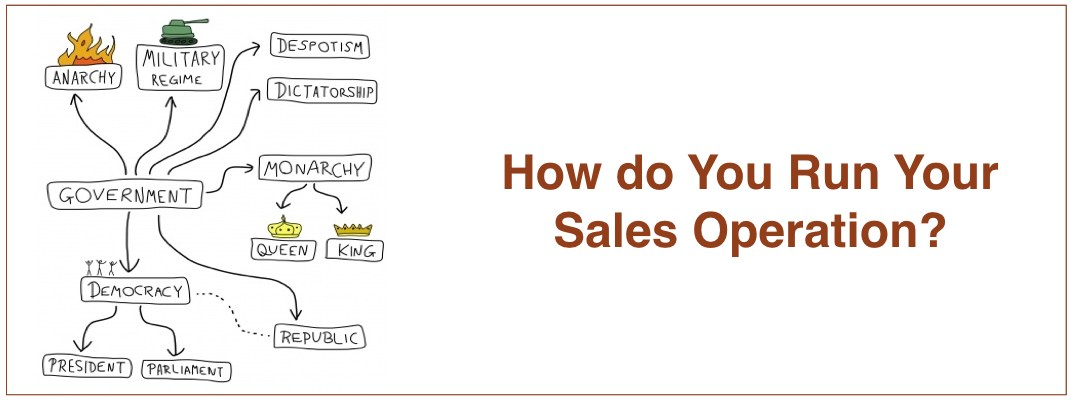 """Is Your Sales Operation Run Like a Dictatorship?  The """"Wild West""""?   Constitutionally?"""