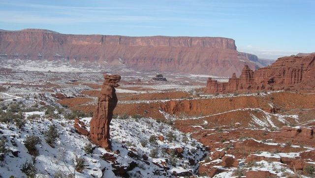 Fisher Towers in the Snow