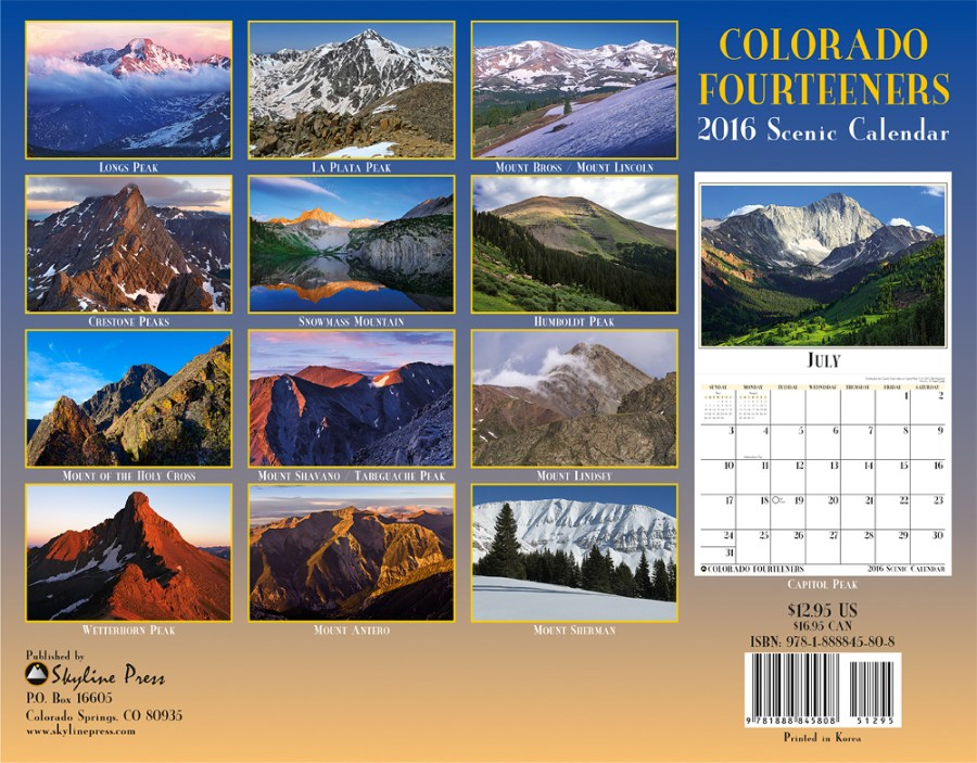 2016 Colorado 14ers Back