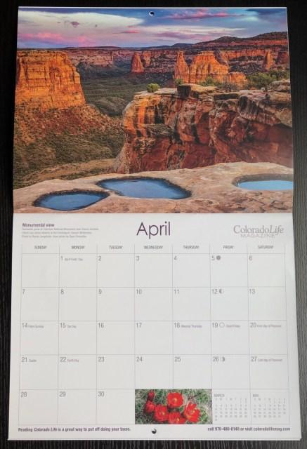 2019 Exploring Colorado Calendar
