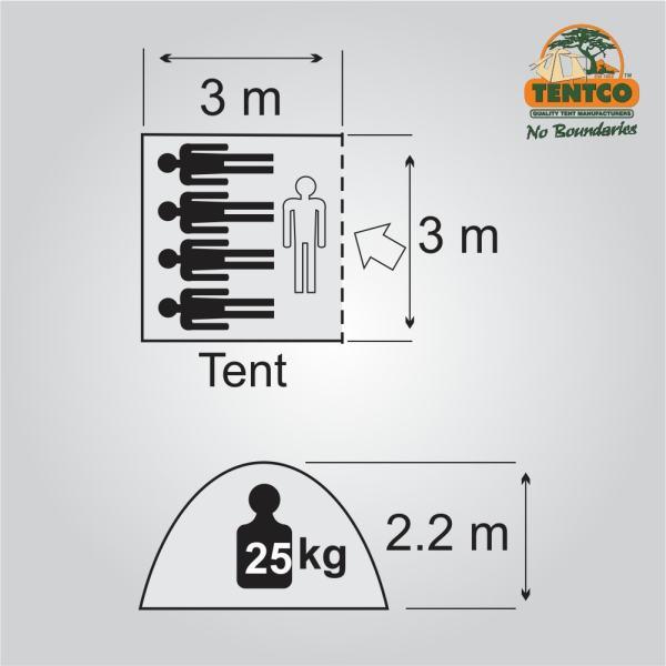 Plan Tentco Senior Wanderer bow tent