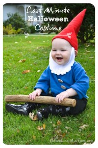 Quick and Easy Halloween Costume Idea: Garden Gnome