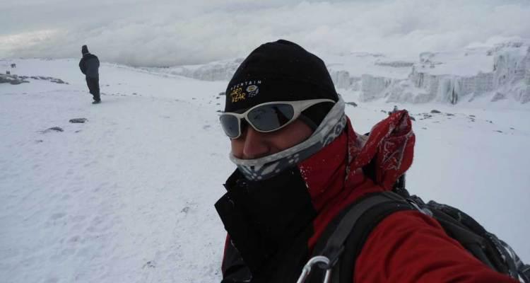 Samir Patham taking selfie on a trek